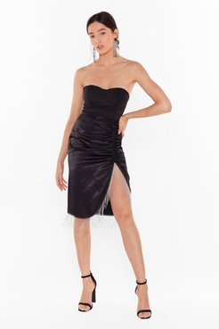 Takes Two to Tango Satin Fringe Skirt