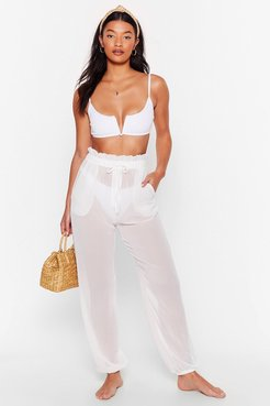 Chiffon It Paperbag Cover-Up Pants