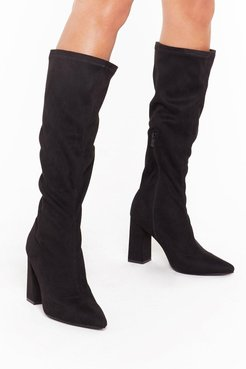 Let Me Point Out Faux Suede Knee High Boots
