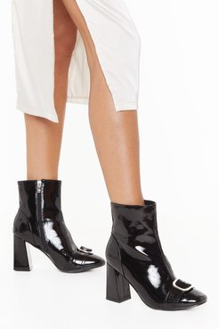 When the Sun Don't Shine Buckle Block Heel Boots - Black