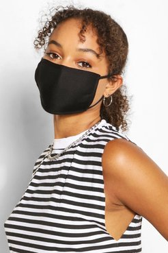 Mixed Print Fashion Face Mask 3 Pack - Black - One Size