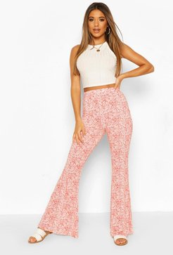 Paisley Print Jersey Flares - Red - 8