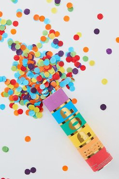 Ginger Ray Rainbow Confetti Cannon - Multi - One Size