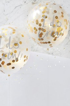 Ginger Ray I Do Crew Gold Confetti Balloons - Metallics - One Size