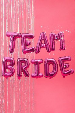 Ginger Ray Team Bride Foil Balloon Bunting - Pink - One Size