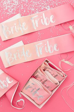 Ginger Ray Bride Tribe Sashes 6 Pack - Pink - One Size