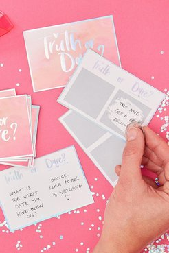 Ginger Ray Bridal Truth Or Dare Game Cards - Pink - One Size