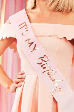 Ginger Ray It'S My Birthday Sash - Pink - One Size
