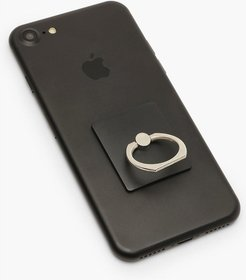 Square Phone Ring - Black - One Size