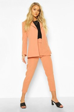 Belted Mix & Match Tapered Pants - Orange - 6