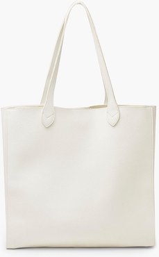 s Marbled Pu Large Tote Bag - White - One Size