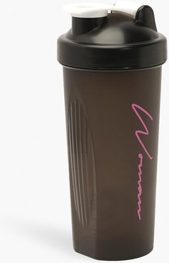 Woman Sport Protein Shaker Bottle - Black - One Size