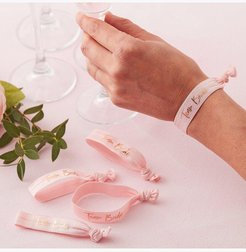 Ginger Ray Team Bride Wristbands 5 Pack - Pink - One Size
