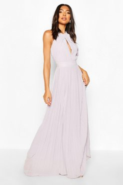 Tall Halterneck Maxi Dress - Grey - 12