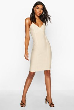 Tall Sculpting Bandage Mini Dress - Beige - 2