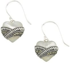 Mother-of-Pearl and Sterling Silver Drop Earrings