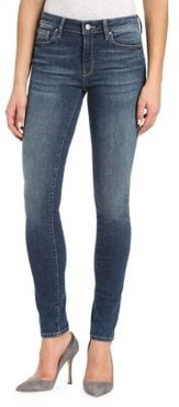 Adriana Shaded Mid-Rise Ankle Jeans