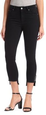 Tess High-Rise Piercing Skinny Jeans