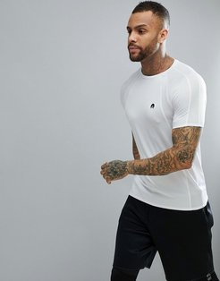 T-Shirt With Mesh In White - White