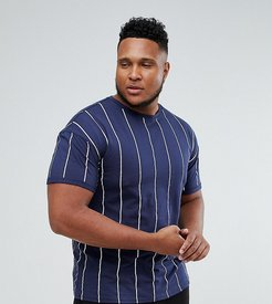 T-Shirt In Navy Stripe exclusive to ASOS - Navy