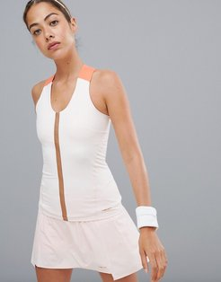 performance tank top in white - White