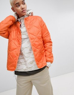 WIP Quilted Liner Jacket In Ripstop - Orange