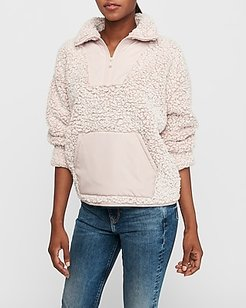 Cozy Kangaroo Pocket Sherpa Sweatshirt