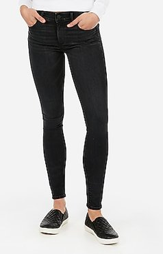 Mid Rise Denim Perfect Lift Black Skinny Jeans