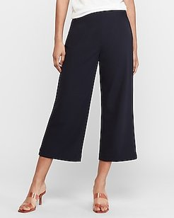 High Waisted Cropped Trouser Pant Blue Women's M