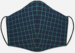 Pocket Square Clothing Plaid Unity Face Mask Men's Green