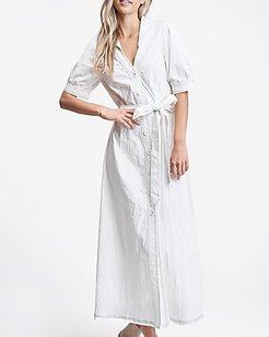 Emory Park Collared Shirt Dress White Women's S