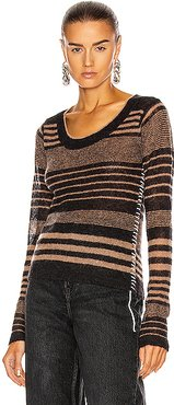Katasha Sweater in Black,Neutral,Stripes