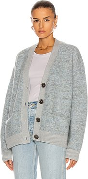 Rives Mohair Cardigan in Gray