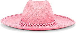 Peoni Beaded Hat in Pink