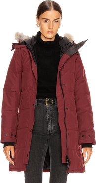 Shelburne Parka with Coyote Fur in Red