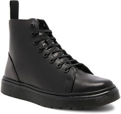 Talib 8 Eye Leather Boots in Black