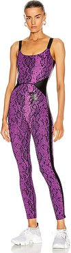 for FWRD All in One Bodysuit in Purple,Animal Print