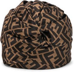 Logo Hat in Abstract,Brown
