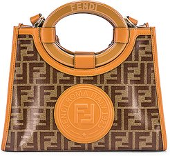 Small Runway Shopping Bag in Brown