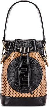 Mini Mon Tresor Bucket Bag in Black,Neutral
