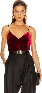 Velvet Camisole Top in Red