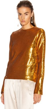 Gilded Clara Top in Metallic Gold