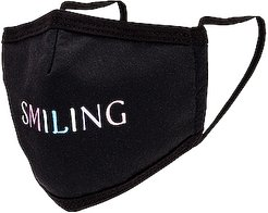 Smiling Face Mask in Black