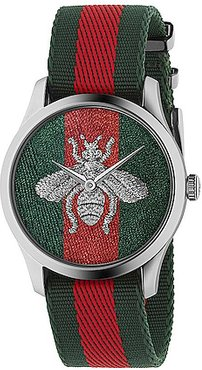 G-Timeless Watch in Green,Red,Stripes