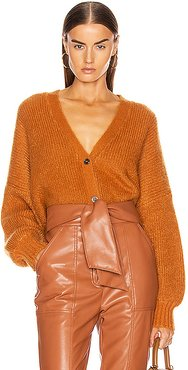 Crop Cardigan in Brown