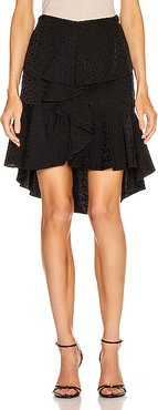 Nonsense Moments Mini Skirt in Nights in Black