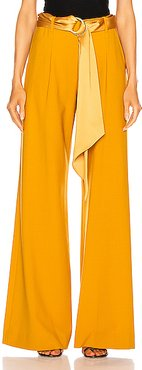 Wide Leg Pant in Yellow