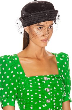Sailor Hat with Veil in Black