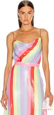 Clover Cami in Pink,Purple,Stripes