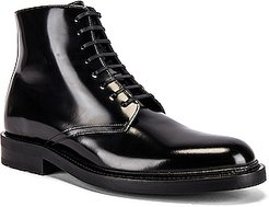 Army Lace Up Boots in Black